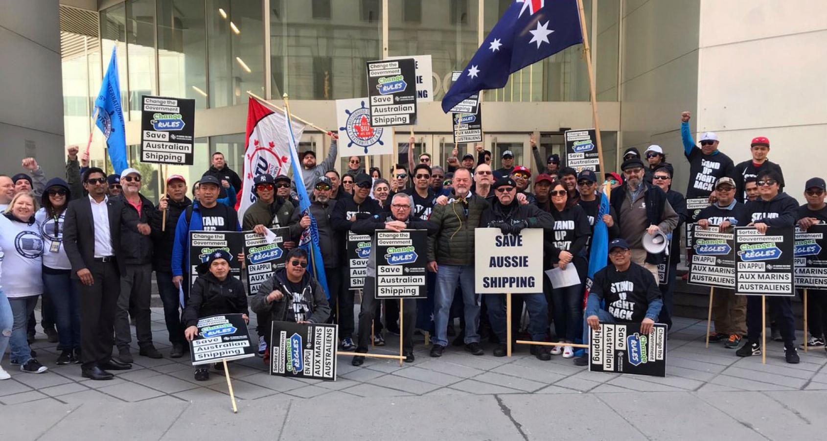 Maritime workers rally globally to 'save Australian shipping' | ITF  Seafarers